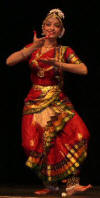 Classical Indian dancer